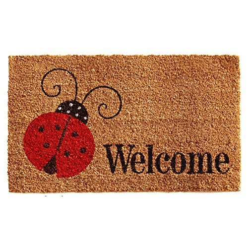 Home & More 121431729 Ladybug Welcome Doormat, 17'' x 29'' x 0.60'', Multicolor by Home & More