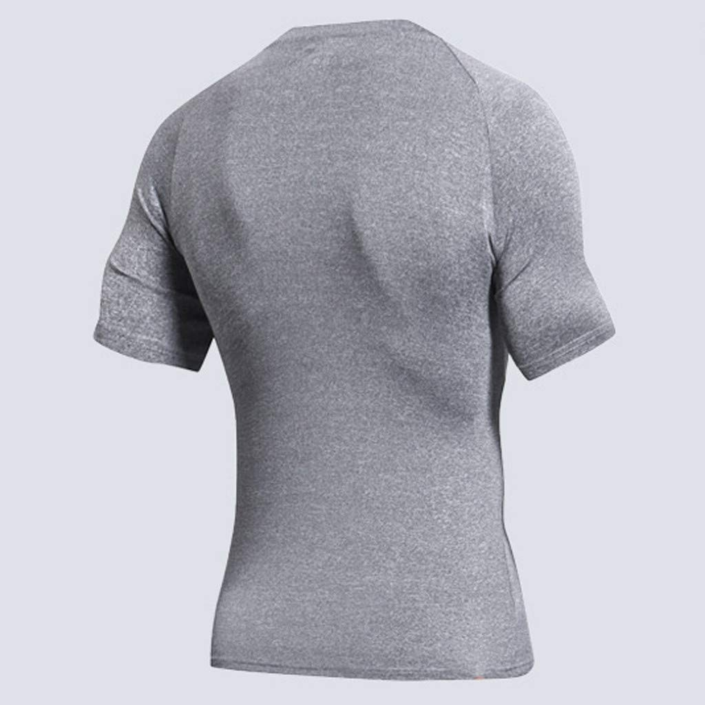 Palarn Mens Fashion Sports Shirts Mens New Fitness Training Clothes Short Sleeve Blouse Outdoor Sports Blouse Top