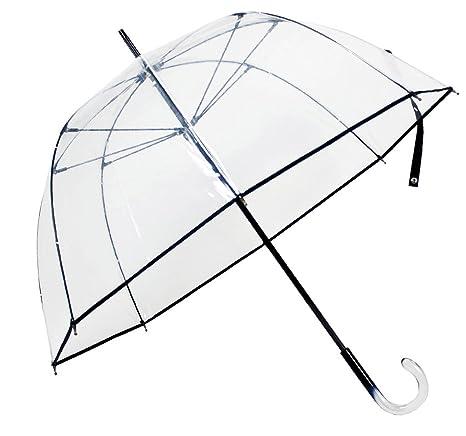 Paraguas Cacharel transparente ribete negro