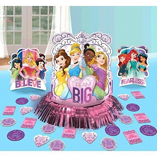 (Disney Princess Dream Big Party Table Decorations Kit ( Centerpiece Kit ) 23 PCS - Kids Birthday and Party Supplies)