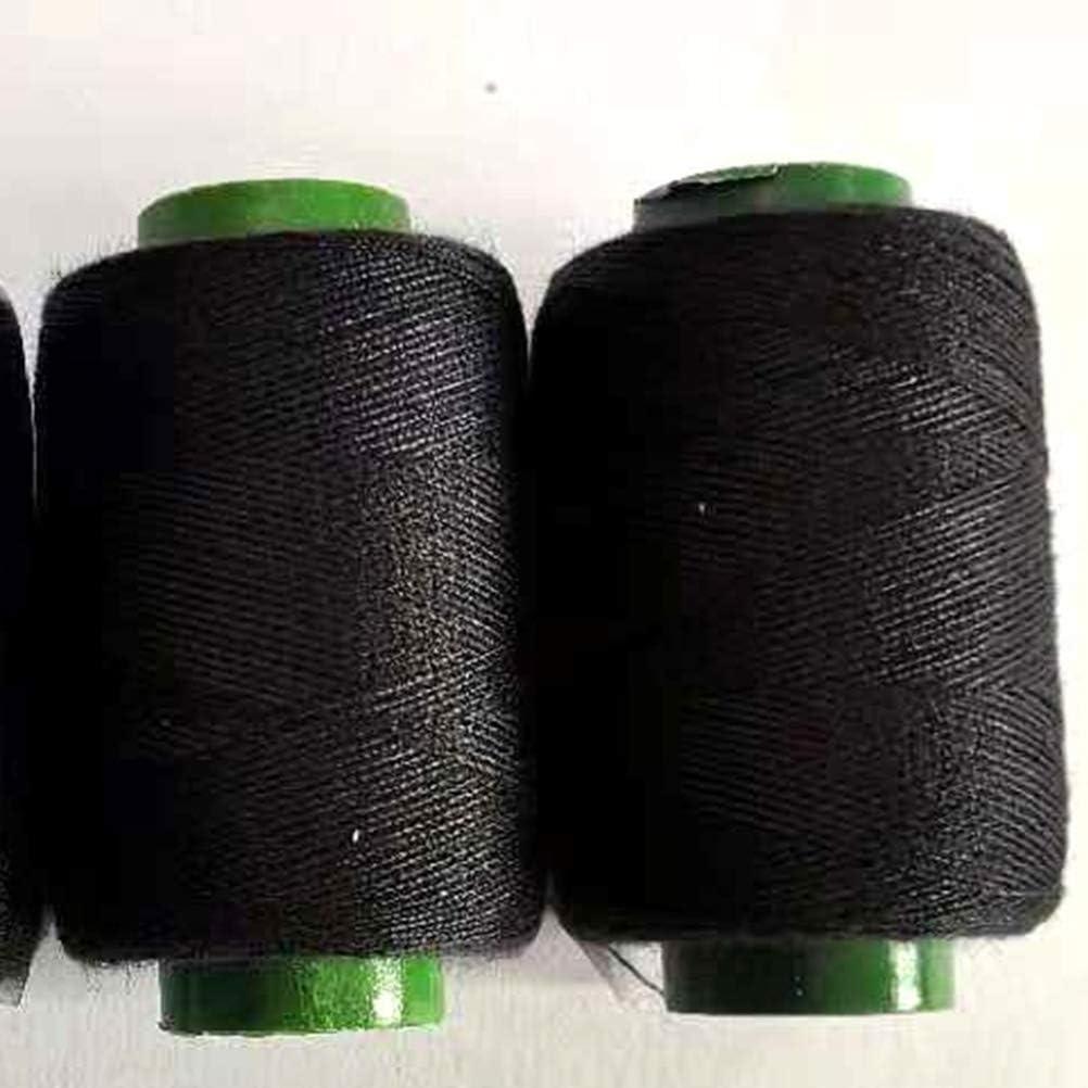 SUPVOX Hilo de coser de 4 piezas con hilos de punto de cruz Hilo de poli/éster negro Hilo de m/áquina de coser Hilo de poli/éster Hilo fuerte