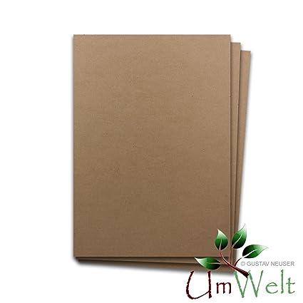 Qualit/ätsmarkte Umwelt aus dem Hause Gustav NEUSER/® Kraftpapier 200 Bogen | 210 x 297 mm DIN A4 Umweltkarton Naturkarton 170 g//m/² Naturpapier Umweltpapier BRAUN