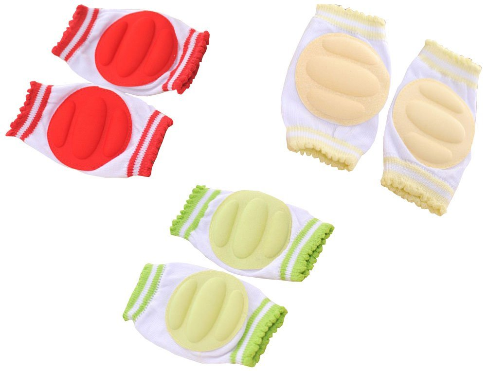 6 Pairs ZJY Adjustable Elastic Baby Knee Pad Crawling Safety Protector for Infant Toddler