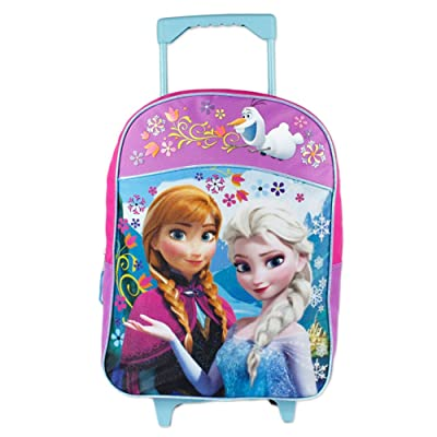 Fast Forward Little Girls' Frozen Roller Backpack, Pink/Purple, 16x12 | Kids' Backpacks