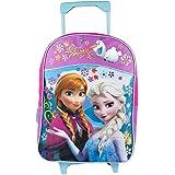 Disney Frozen Anna and Elsa Olaf Flowers Roller Backpack