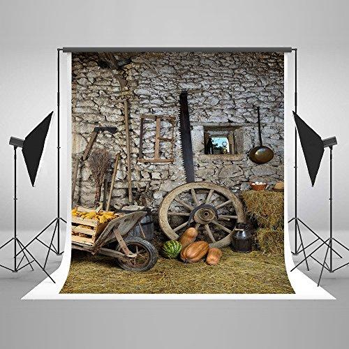 Pumpkin Vintage Backdrops for Photography Halloween Collapsible Cotton Nostalgic Home Décor Background Photo Studio Props pour Toussaint 5x7Ft ...