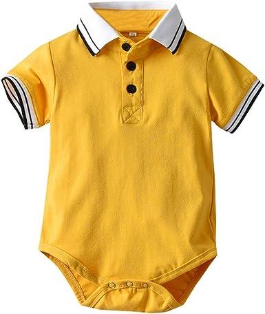 MAYOGO Bebe Polo Mameluco Bebé Niño Pelele Amarillo Mono Ropa Bebe ...