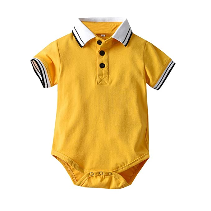 MAYOGO Bebe Polo Mameluco Bebé Niño Pelele Amarillo Mono ...
