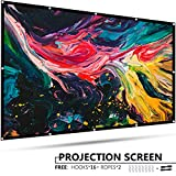 100 Inch Projector Screen - EleTab 100 inch Projector Screen Outdoor Portable 16:9 HD Foldable Anti-Crease Projection Movies Screen for Home Theater Support Double Sided Projection