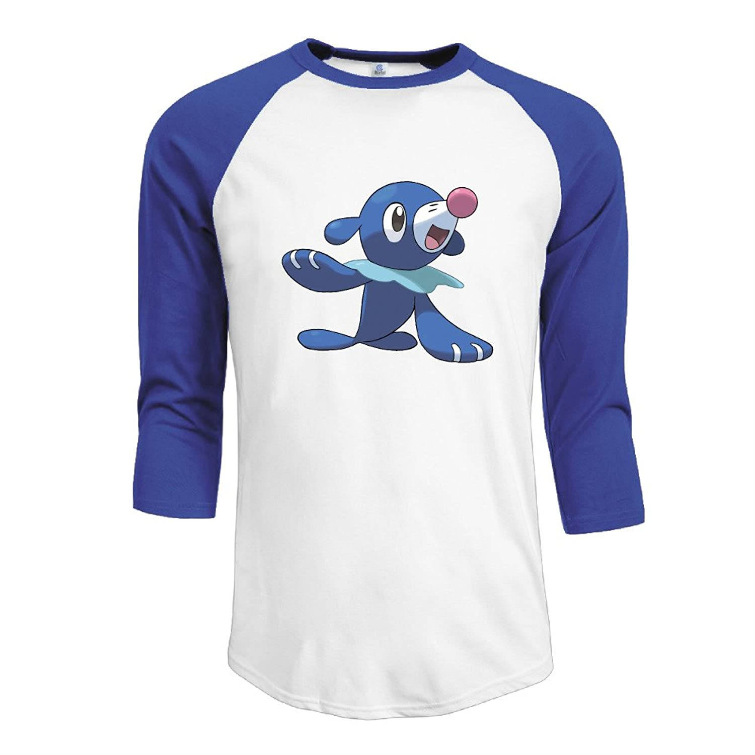 ^GinaR^ Men Middle Sleeve Popplio Comfortable Bottoming Shirt