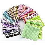 RayLineDo® 15pcs 20*25cm Fabric Patchwork Craft Cotton Material Batiks Mixed Squares Bundle Thin Fabric