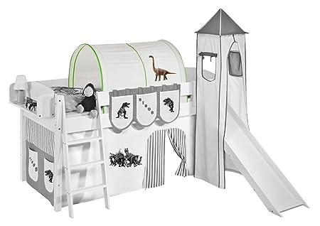 Etagenbett Tunnel Set : Lilokids tunnel dinos grün beige für hochbett spielbett und