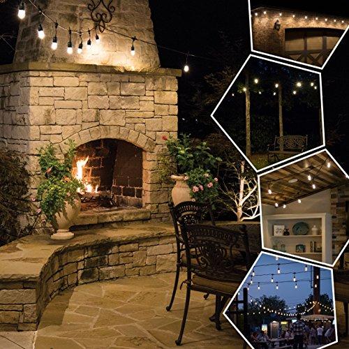 Enbrighten Outdoor String Lights: Jasco Enbrighten Cafe LED String Lights, 12 Feet (UL