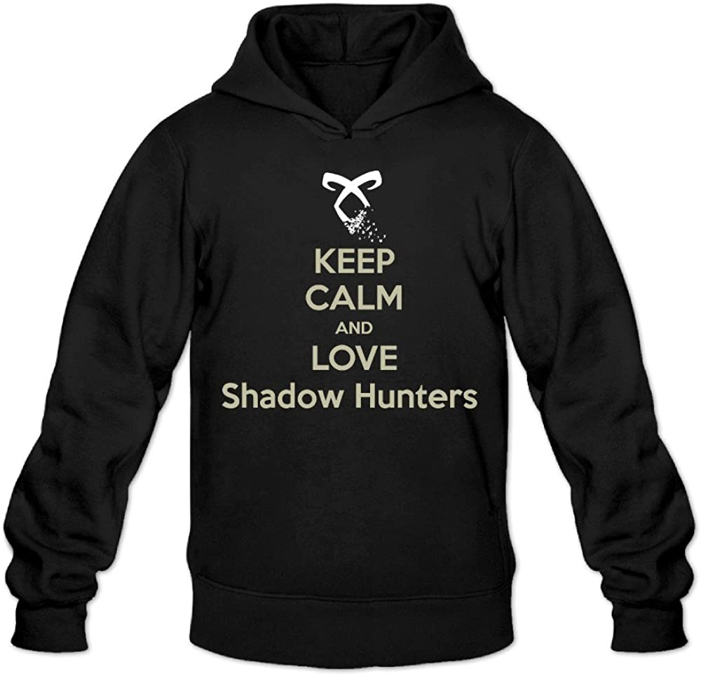 NUBIA Mens Keep Calm And Love Shadowhunters Classic Hooded Black