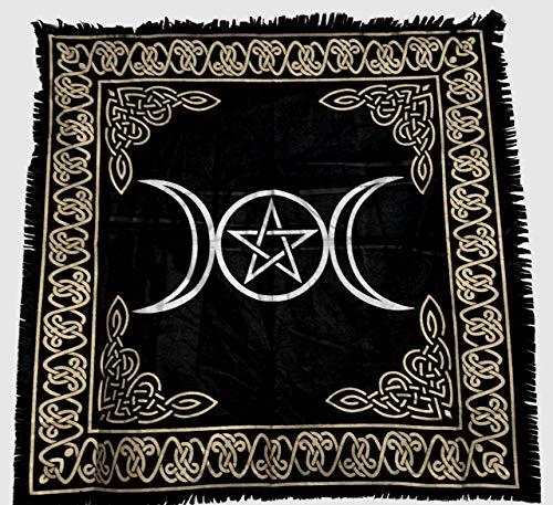 - E Vigilia Altar Cloth Tarot Tapestry Triple Goddess with Pentagram 24