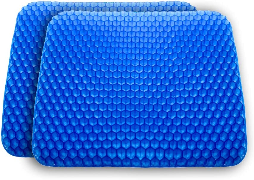 Tailbone Pain Relief POVAST 2 Pack Seat Cushion Long Periods Seating Pad Breathable Home Office Wheel Chair Leg Butt Hip Support