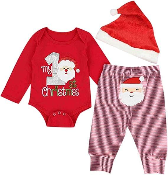 Fossen My First Christmas Disfraz Navidad Bebe niño niña Ropa de ...