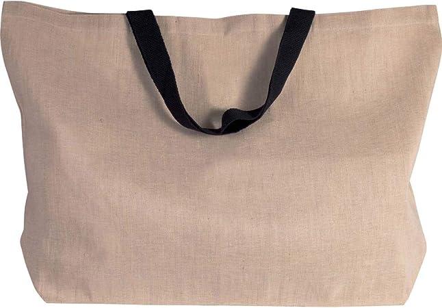 noTrash2003 - Bolsa de la compra grande de tela mixta de yute y ...