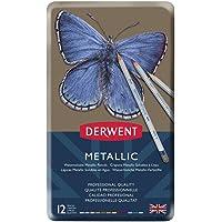 Derwent Metallic Pencils Tin 12