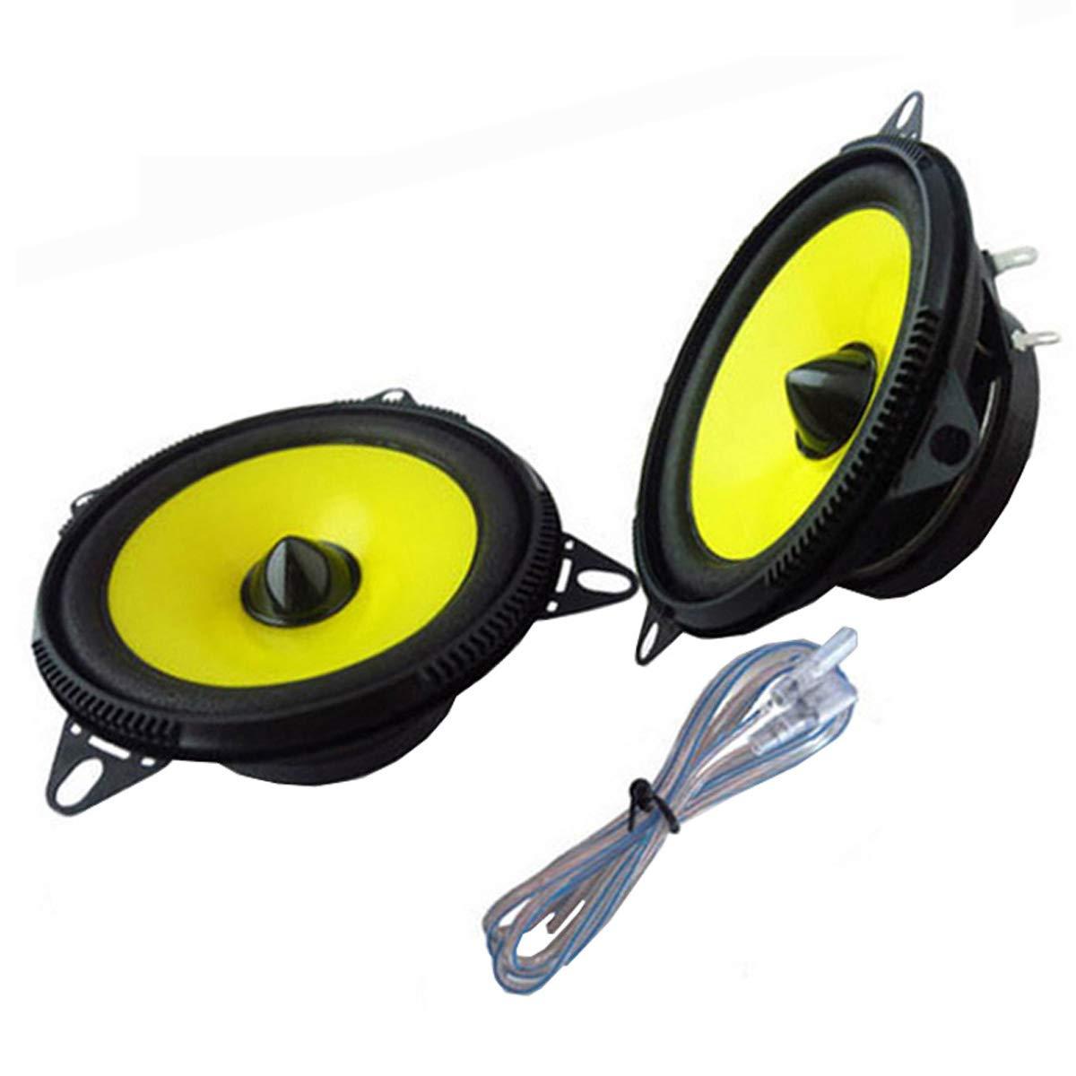 ZHUHAI HONGKANG DONGMAO TRADING CO LTD 1 par de Altavoces de Audio para automó vil de 4 Pulgadas con Altavoces de Sistema esté reo de Rango Completo