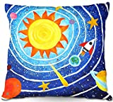 DiaNoche Designs Decorative Outdoor Patio Couch Throw Pillows from BBQ Garden Outdoor Ideas by nJoy Art Unique - Solar System VII