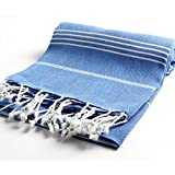 Pestemal Turkish Bath Towels 37x70 %100 CottonTM by Cacala Night Blue