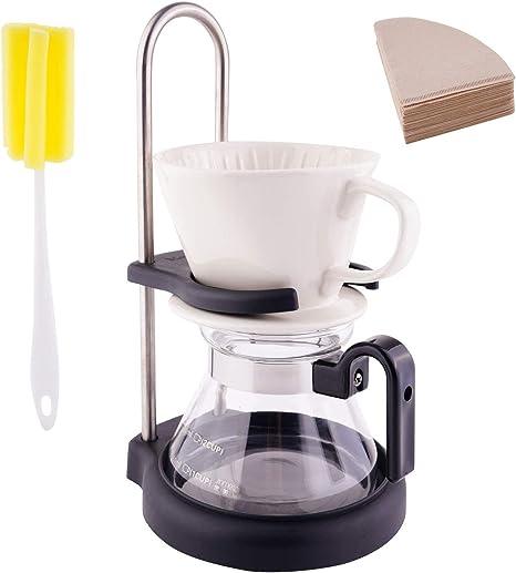 Juego de goteo de café con estación de soporte para servir sobre ...