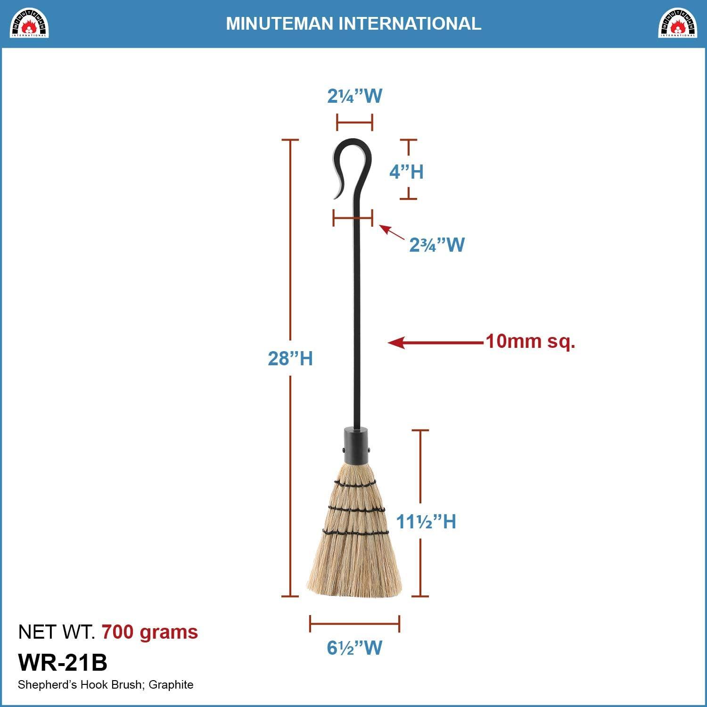 Minuteman International Shepherds Hook Single Hoe Fireplace Tool Graphite