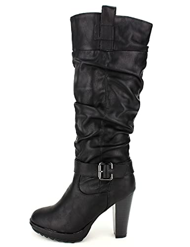 botte, Bottes Noir Chaussures Femme, Cendriyon