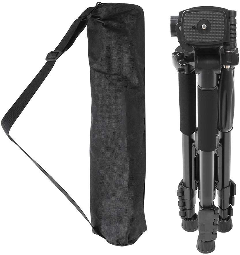 Mugast Photography Tripod Monopod,Portable Alloy 5KG Load 4 Sections Travel//Live Shooting Tripod with 3D Ballhead and Quick Release Plate Function for DSLR Camera
