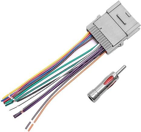 Amazon.com: Car Stereo Radio Wiring Harness Antenna Adapter for ... 2001 buick lesabre radio wiring diagram Amazon.com