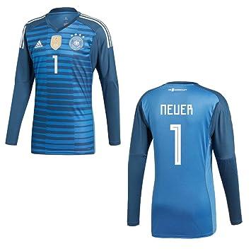 adidas DFB Alemania Camiseta Home Portero Infantil WM 2018 - Nuevo 1, 128: Amazon.es: Deportes y aire libre