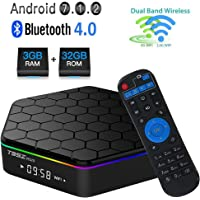 Android 7.1.2 Smart TV Box- VGROUND X96 Mini Amlogic S905W Quad-core 64 Bit DDR3 Support 4K UHD 2.4GHz WiFi & Lan VP9 DLNA H.265 64 Bit Set-top Box with Wireless Backlit Keyboard-3G/32G
