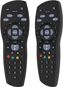 Gvirtue Remote Controller Device for PayTV IQ2 IQ3 S1 / Foxtel Box/Sky New Zealand/Mystar HD (Black)