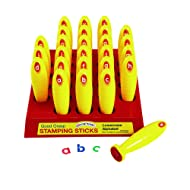 "Colorations Good Grasp Stamping Stick Lowercase Letters A-Z (1 1/4"" x 5 1/8"")"