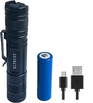 KLTrust 1000 Lumens USB Tactical Waterproof Flashlights