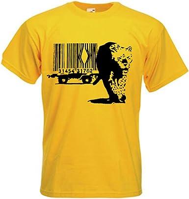 Playera Tribal para Hombre, diseño de Leopardo con código de Barras: Amazon.es: Libros