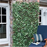 Windscreen4less Expandable Stretchable Artificial Leaf Leaves Faux Ivy Privacy Fence Screen Decor Panel Cover