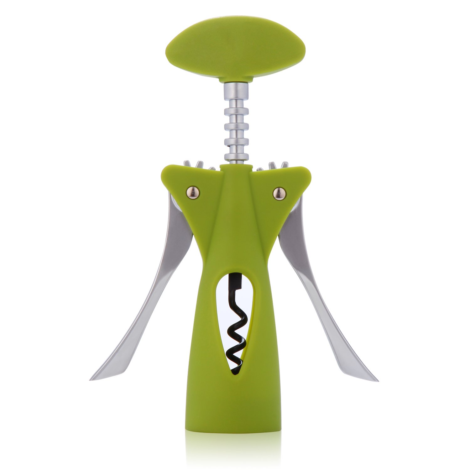 GOTTA Wine Opener Wing Corkscrew Professional Portable Corkscrew Bottle Opener Sommelier Bartenders Waiters for Rubber Synthetic Corks, Yellowish Green by GOTTA