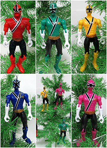 Power Rangers Christmas Tree.Power Rangers 5 Piece Christmas Tree Ornament Set Buy