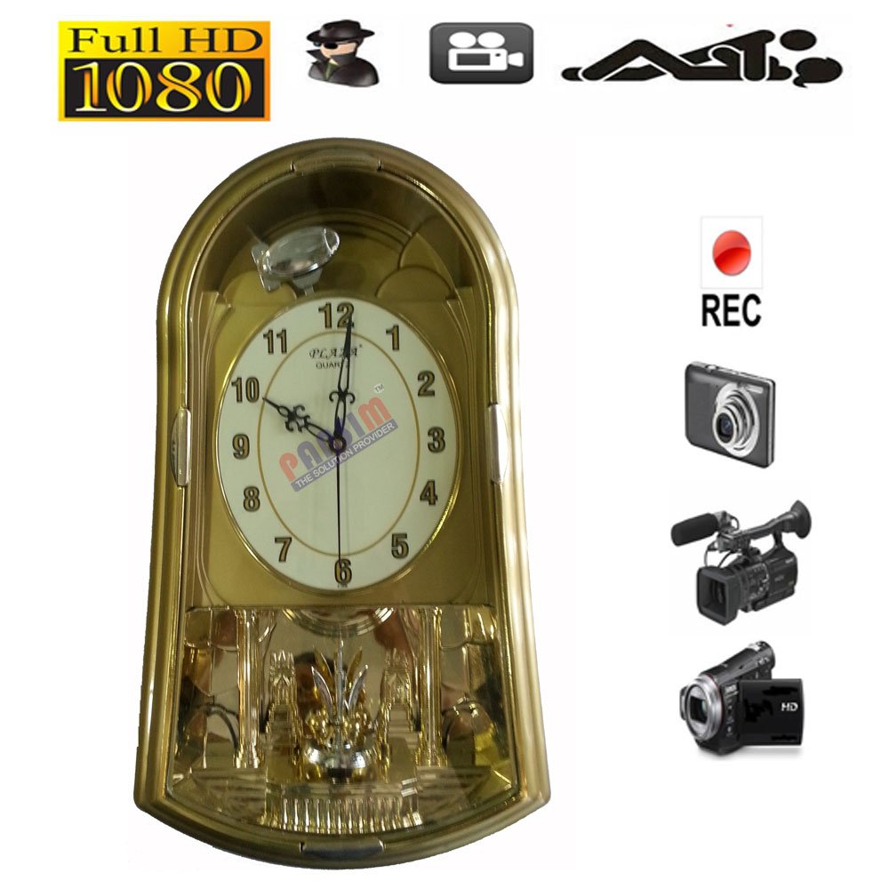 Buy pansim hqwchsc hd quality wall clock hidden spy camera with buy pansim hqwchsc hd quality wall clock hidden spy camera with remote online at low price in india pansim camera reviews ratings amazon amipublicfo Images