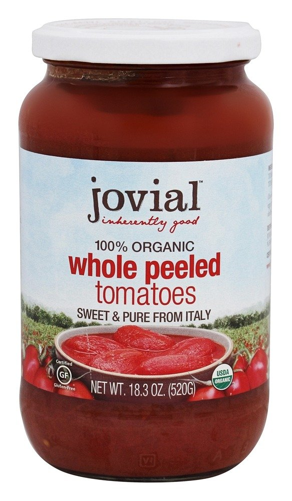 Jovial Foods Organic Whole Peeled Tomatoes, 9.5 Pound