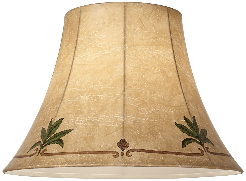 Palm Leaf Faux Leather Lamp Shade 9x18x13 (Spider) by Springcrest (Image #2)