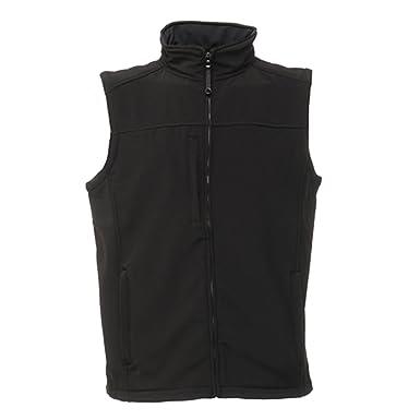 Regatta Mens Flux Softshell Bodywarmer/Water Repellent Sleeveless Jacket  (4XL) (All Black