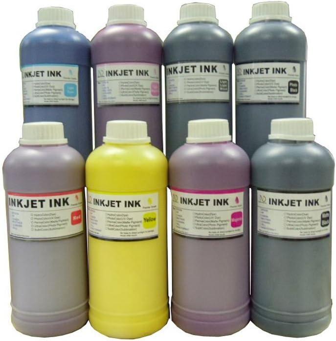 ND Brand Dinsink: 8 Pint Premium UV Pigment Refill Ink kit HP 771 cartridge and CISS for HP DesignJet Z6200 Z9000 The item with ND Logo! PK//M//Y//LC//LM//MK//LGY//Red