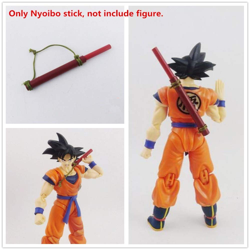 MAI PHUONGass Nyoibo Stick Parts for Son Goku Gohan Goten Models Baby Boy Must Haves BFF Gifts Girls Favourite Characters Superhero Cake Topper UNbox Box