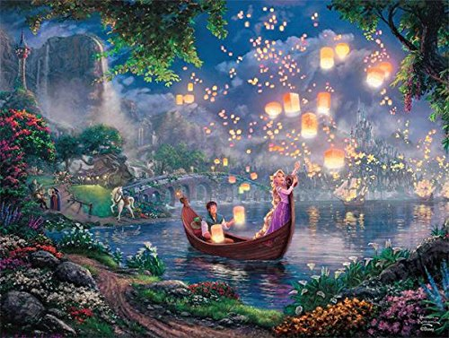 (Ceaco Tangled Thomas Kinkade Disney Jigsaw Puzzle - 750 pieces)