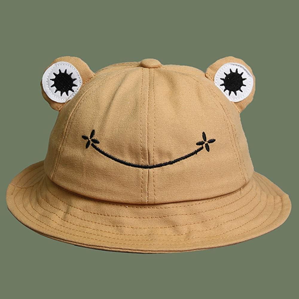 SVHK Chapeau Femmes p/êcheur Cap de Protection Solaire Chapeau Respirante ext/érieur /Ét/é Cap Pliable Mignon Frog Hat Color : Rose