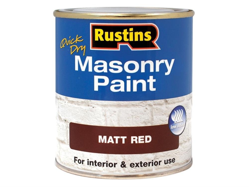 Rustins MASPR500 Masonry Paint Red 500ml, 500