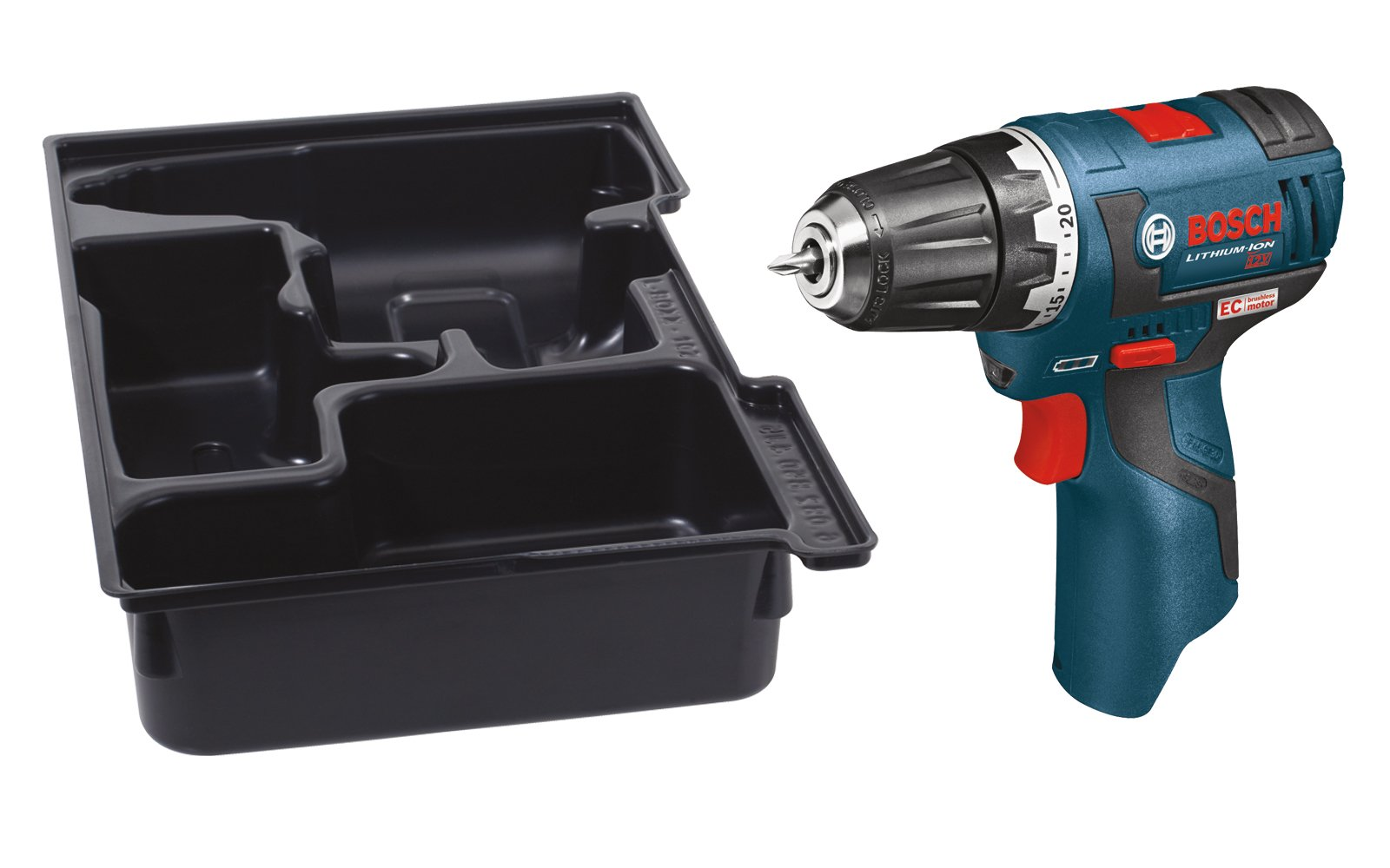 Bosch PS32BN Bare-Tool 12-volt Max Brushless 3/8-Inch Drill/Driver with Insert Tray for L-Boxx